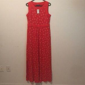 Lands end sleeveless maxi dress NWT